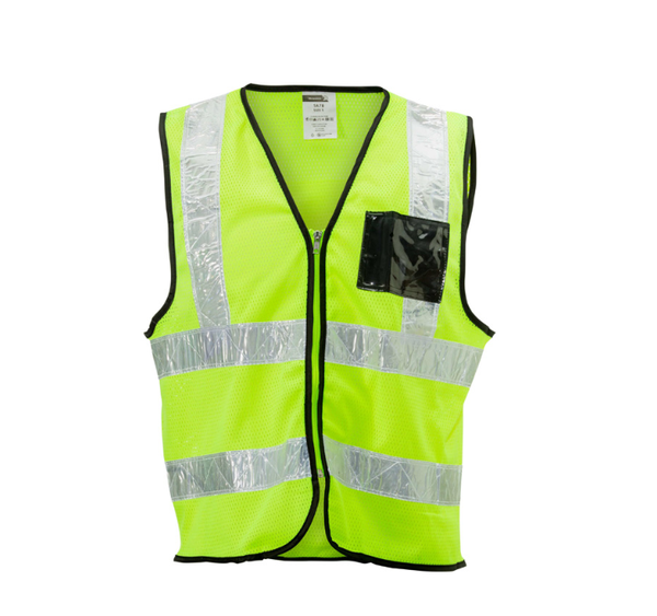 Air-tex mesh reflective vest with pvc white reflec picture