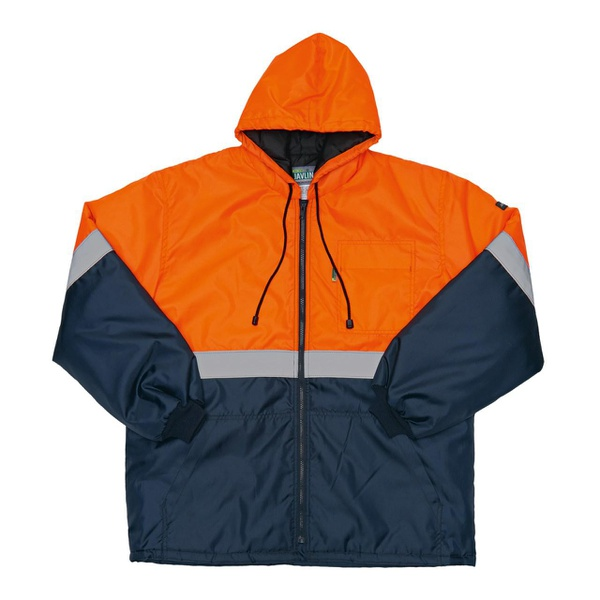 Javlin hi-vis ice freezer parka orange nav picture