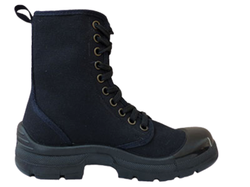 Dot canvas combat boot picture
