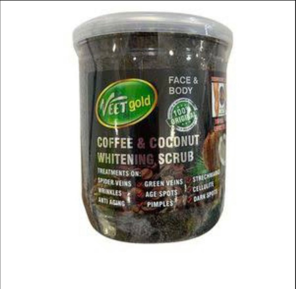 Veet gold coffee and coconut whitening scrub picture