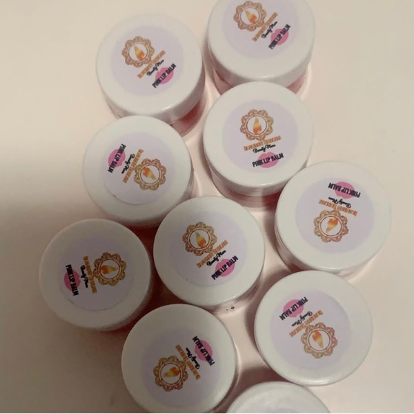 Pink lips balm picture