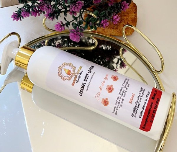Caramel body lotion picture