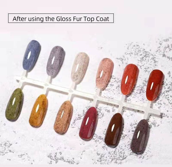 Gel polish uv led 15ml - gloss fur top coat picture