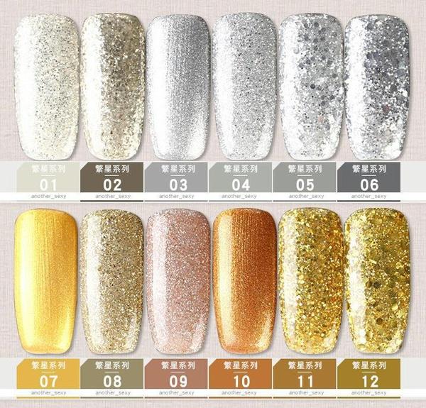 Gel polish uv led 15ml - silver&gold range picture