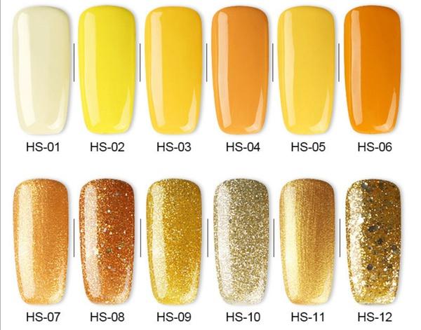 Gel polish uv led 15ml - yellow range picture