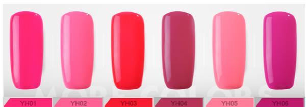 Gel polish uv led 15ml - rose red range picture