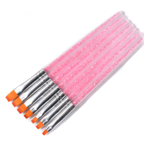 7pce gel brush set - pink picture