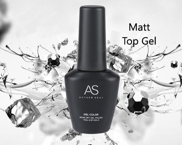 Matte uv led top coat 15ml - clear picture