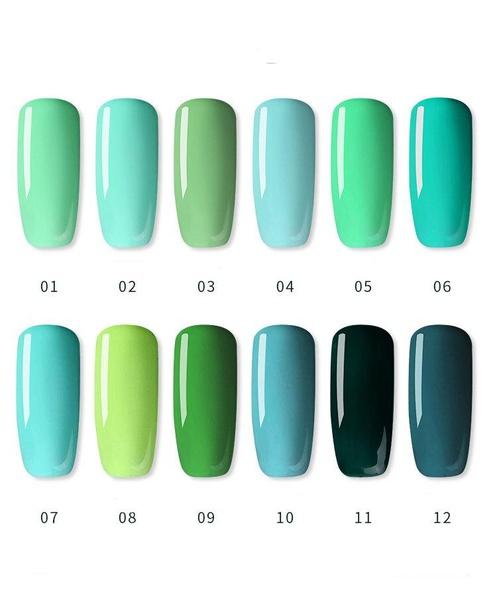 Gel polish uv led 15ml - green range picture