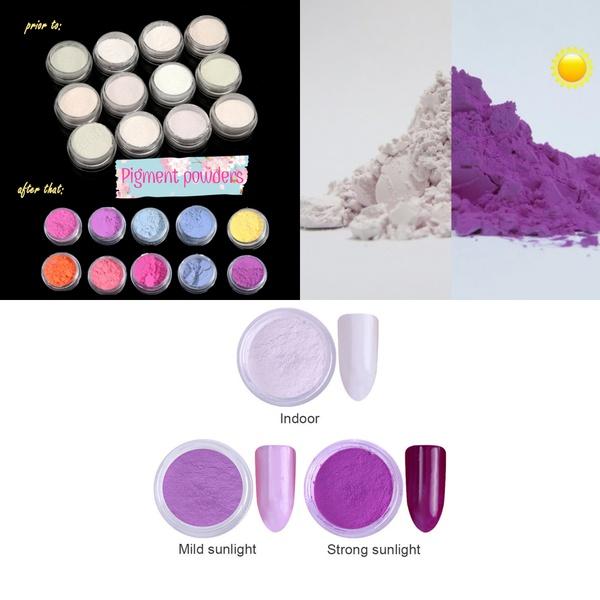 Photochromic pigment color change powder picture