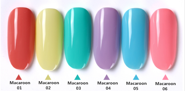 Gel polish uv led 15ml - macaroon range picture