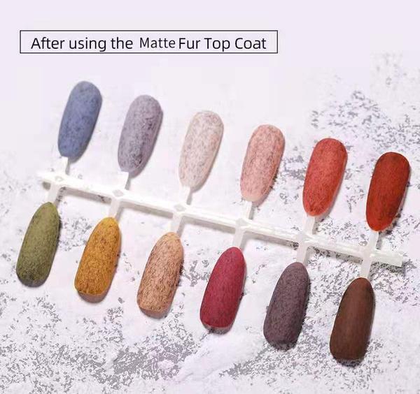 Gel polish uv led 15ml - matte fur top coat picture