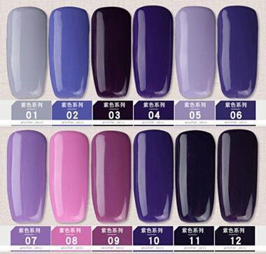 Gel polish uv led 15ml - purple range picture