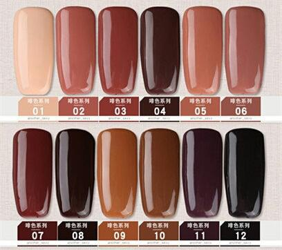 Gel polish uv led 15ml - brown range picture