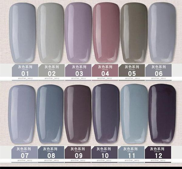 Gel polish uv led 15ml - grey range picture