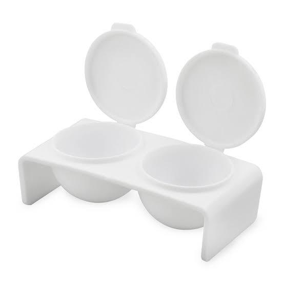 Acrylic dappen dish double picture