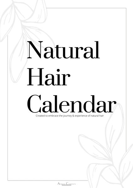 Natural hair calender picture
