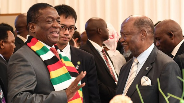 Mnangagwa arrives back home from japan picture
