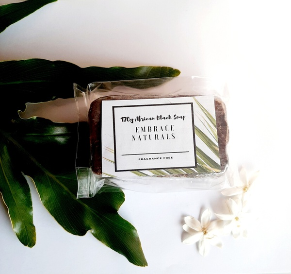 African black soap bar picture