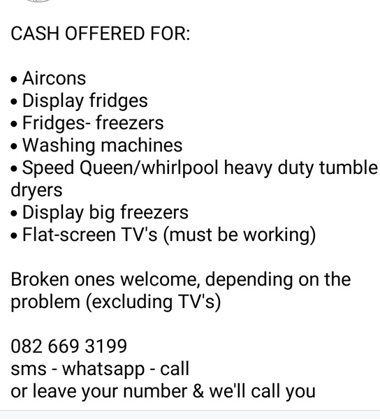 Cash offered for your unwanted/broken picture