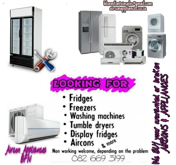 Buying unwanted or broken aircons & appliances picture