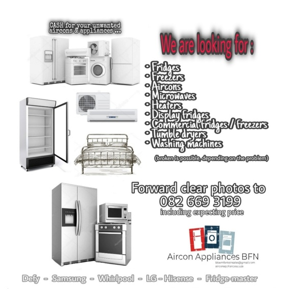 Buying unwanted aircons & appliances picture