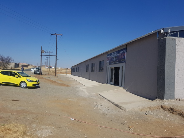 65 by 16 by 4 structures done in Harrismith,  client Kule Mthetwa pastor picture