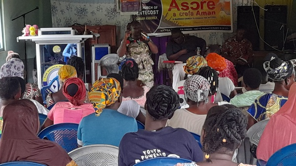 The women in bia west constituency hear good news from their mp picture