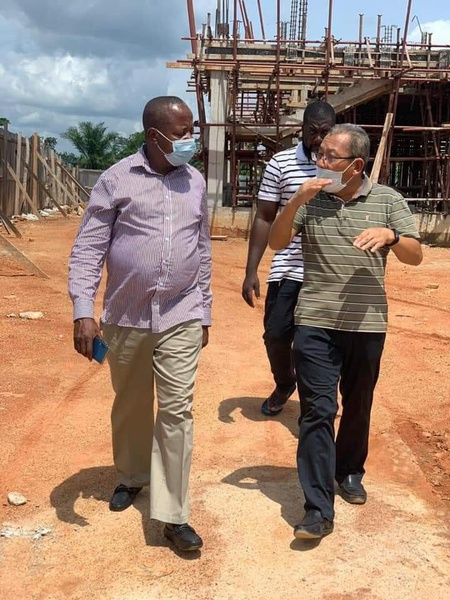 Western north regional chairman of the new patriotic party (npp) pays visit to rcc construction site picture