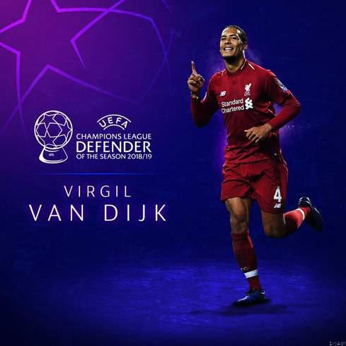 Virgil van dijk named champions league defender of the season picture