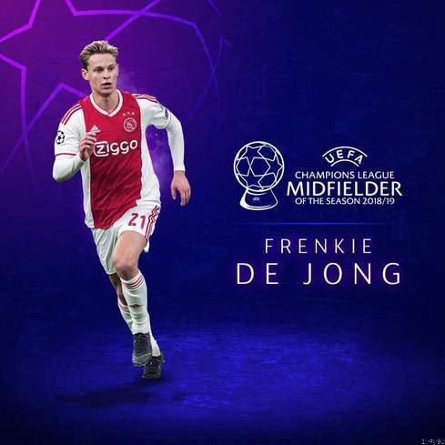 Frenkie de jong name uefa champions league midfielder of the season picture