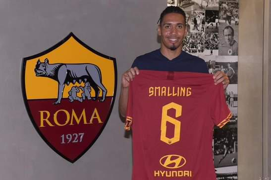 Sports news: as roma complete chris smalling move. picture