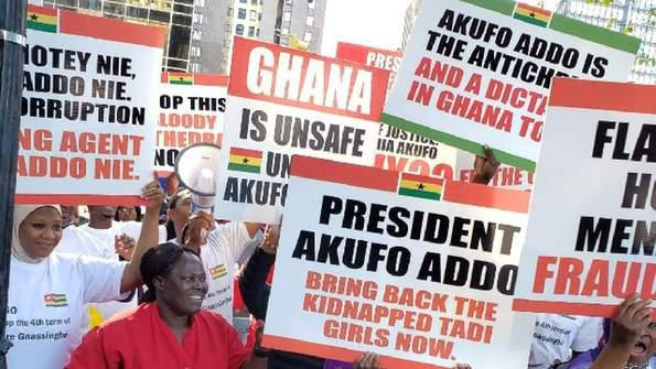 Nana addo is a failure- ghanaians protest in new york. picture