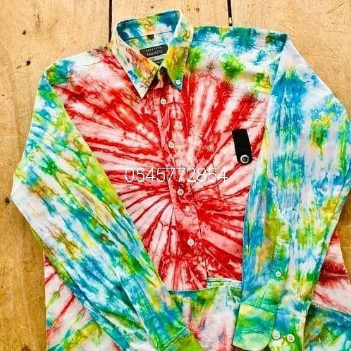 Tie and die shirt picture
