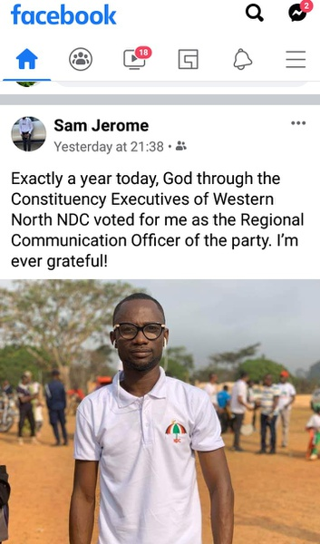 Ndc western north communication officer show appreciations picture
