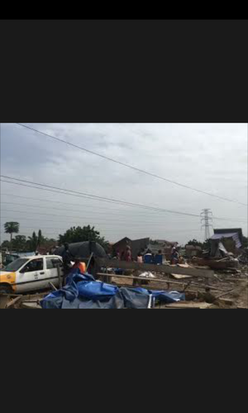Hundreds displaced in a massive demolition exercise at american house- picture
