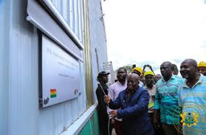 Ghana:prez akufo-addo commissions timber factory- picture